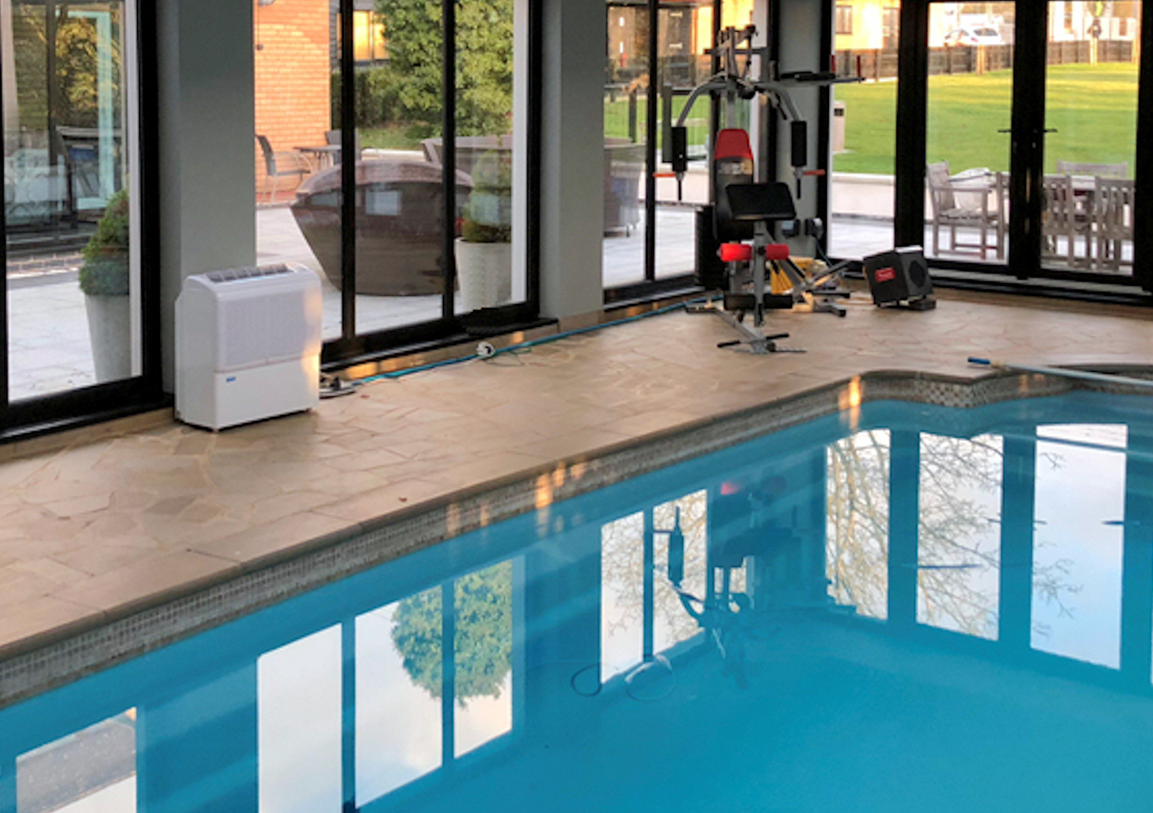 d950 in a swimming pool dehumidifiers by Ecor Pro