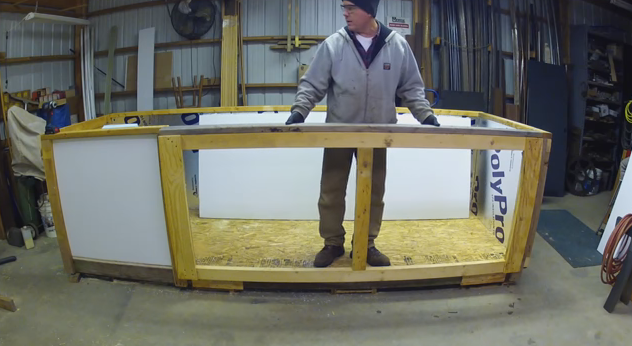 Second stage in making an Ecor Pro drying cabinet