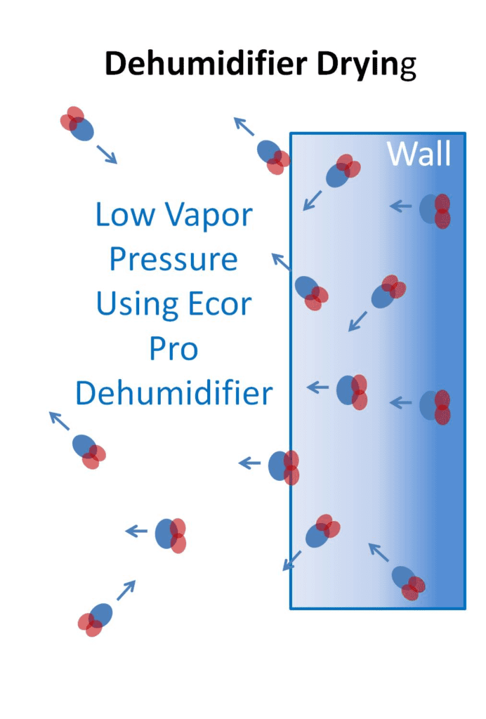 How to dry a wall with Ecor Pro dehumidifiers