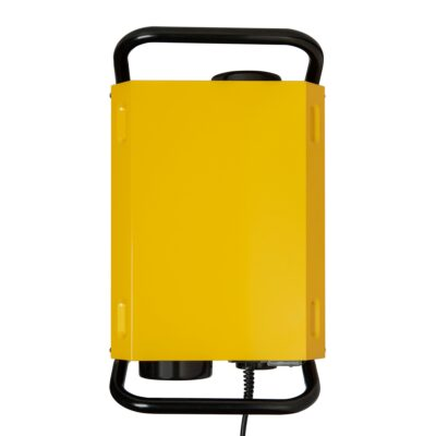 Dehumidifier in yellow top view used as a restoration dehumidifier